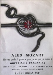 Personale Alex Mozart, Galleria Angolare, Milano 1971